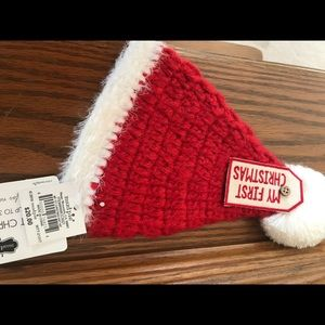 "e89822bd923ee Mud Pie Accessories - NWT Mud Pie "" My First Christmas "" Hat"